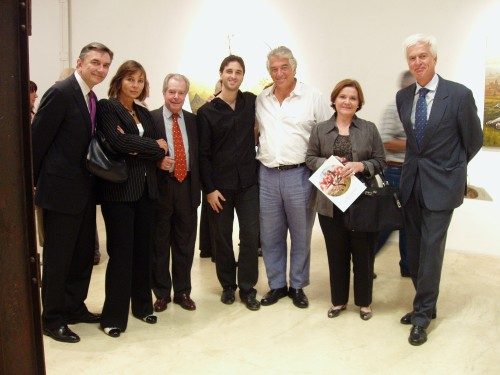 Embajador Yuri Korchagin y señora, Marcelo Colmbo Murúa y señora, Gabriel Grün, César Menegazzo Cané y Embajador Henk Soeters