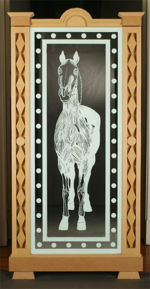 Luis F. Benedit. Anatomía del caballo-Musculatura, vista frontal. 2008
