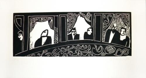Lucrecia Orloff, litografía sobre papel, 35 x 60 cm